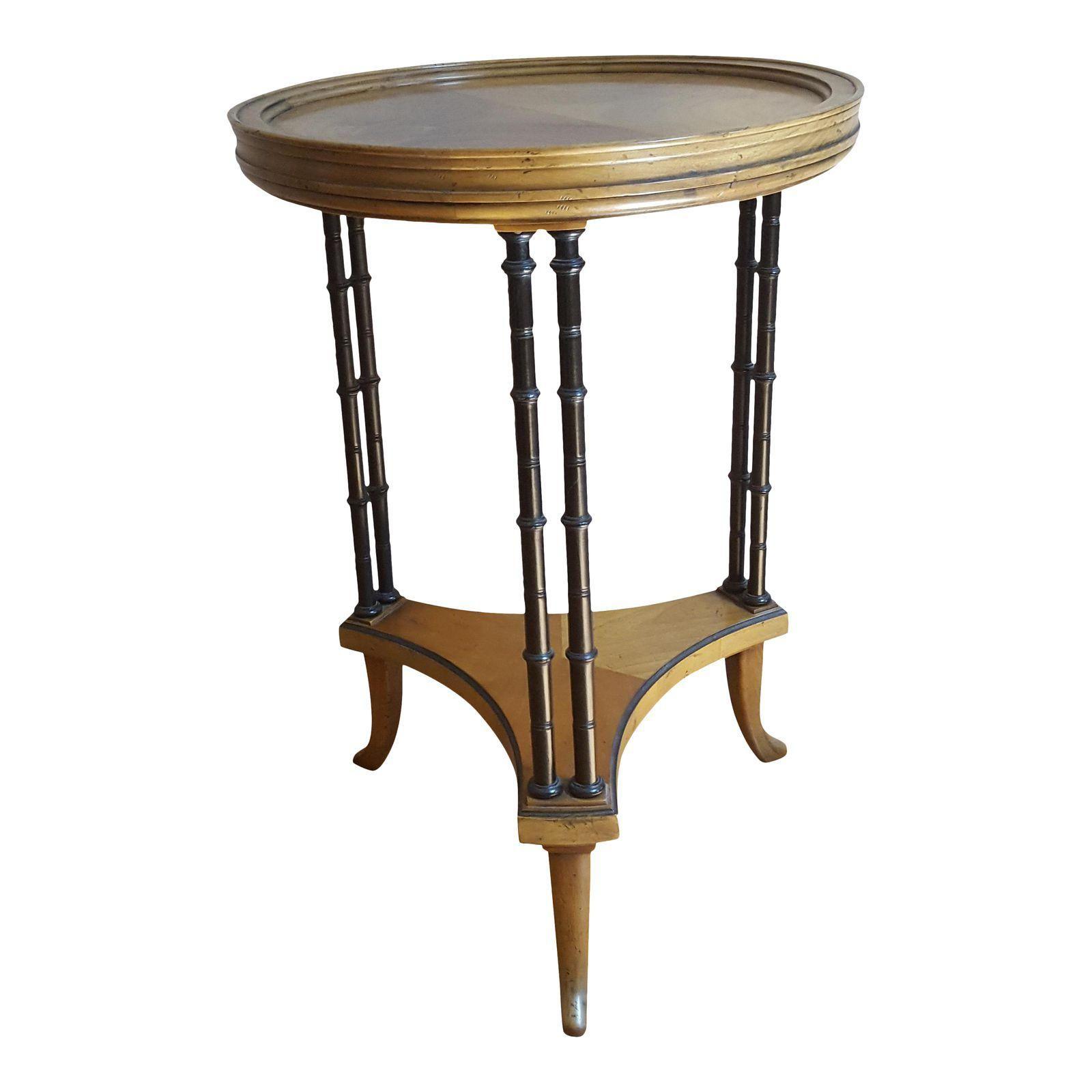 Baker Furniture Burl Side Table