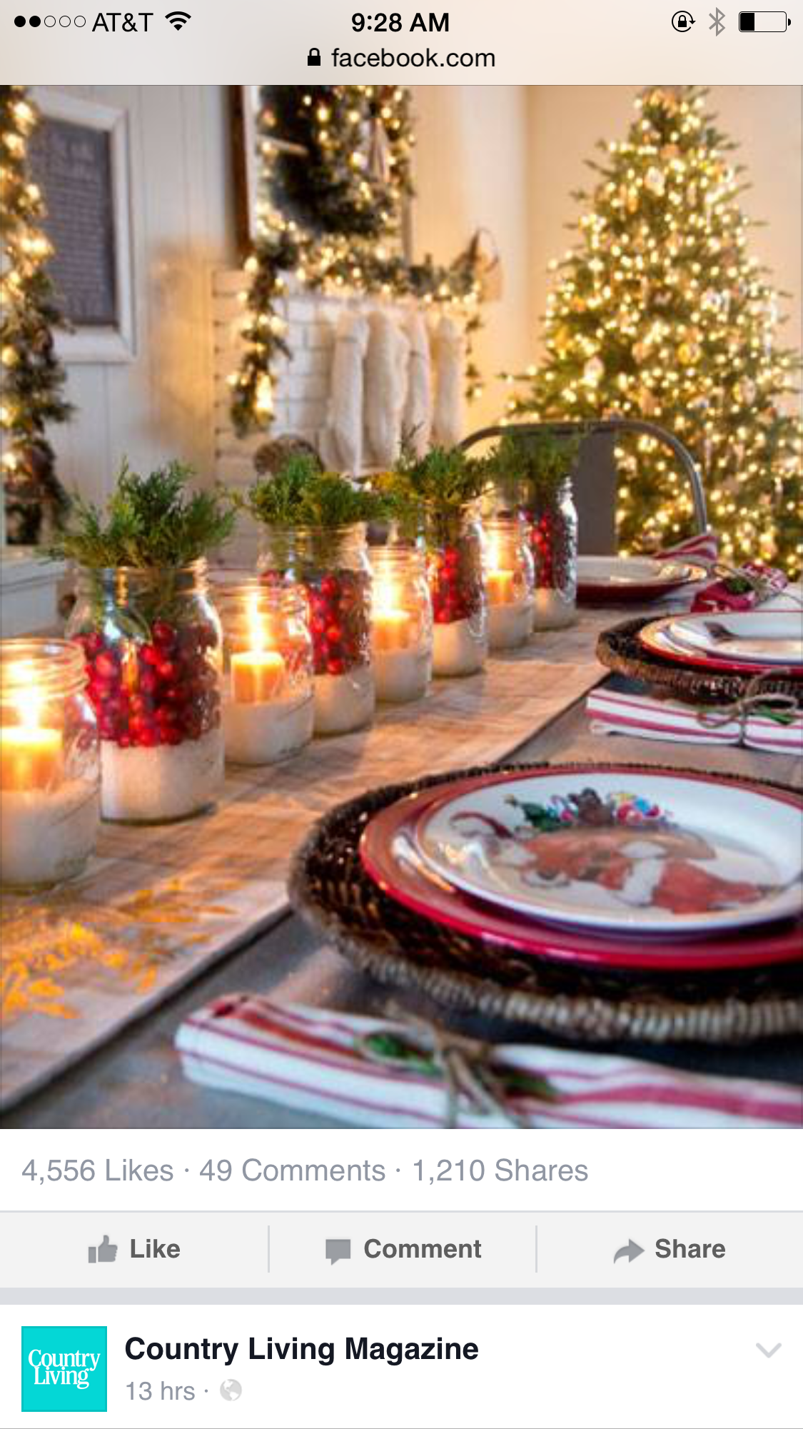 Beautiful Christmas Home Decor  Love The Snowy Cranberry Mason