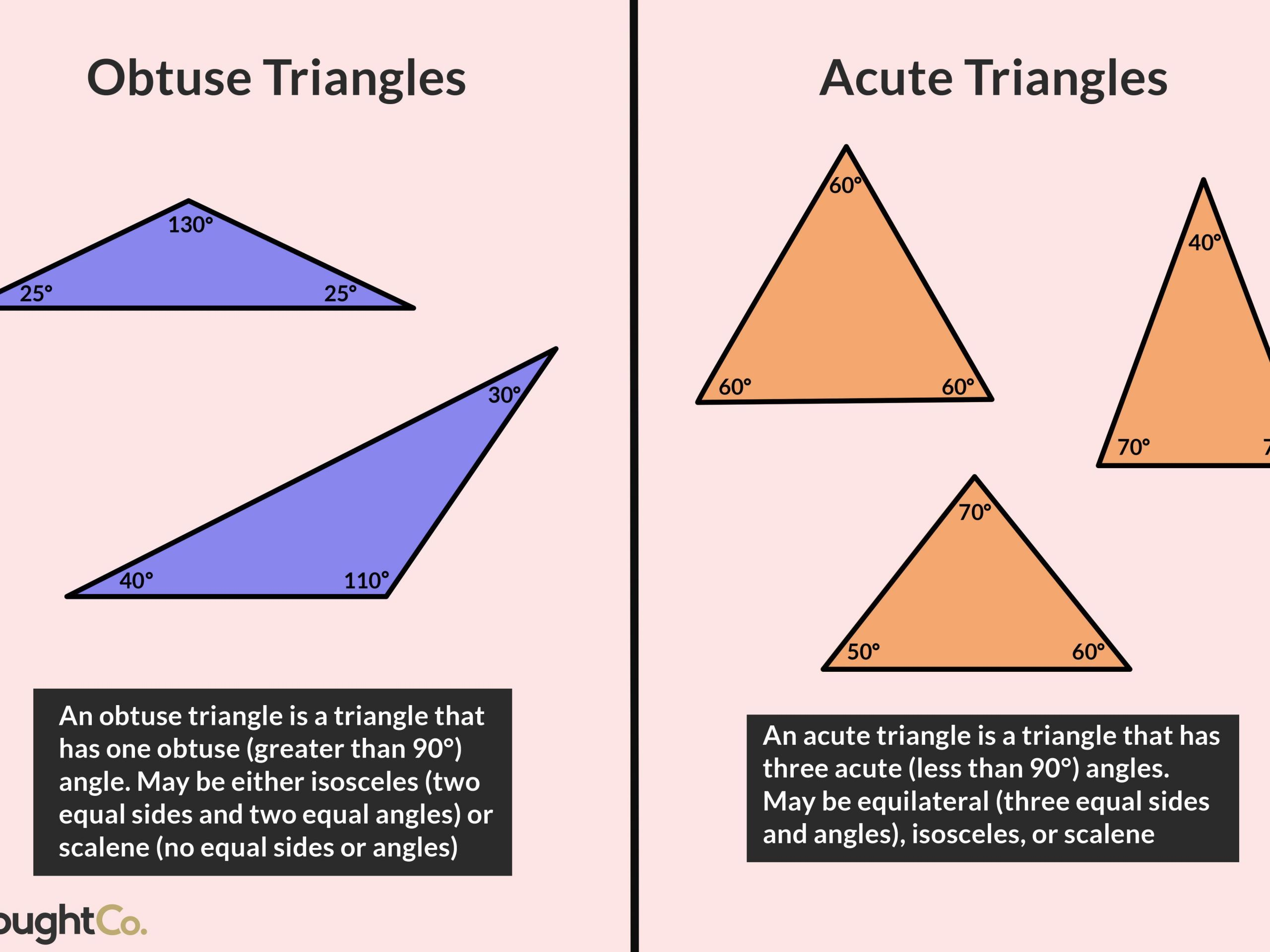 5 Sample Grade 4 Geometry Acute And Obtuse Triangles