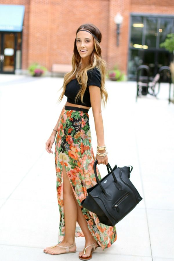 Style Files: 20 Ways to Rock a Maxi | Summer, Maxi skirts and Skirts