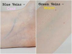 green veins mean warm blue mean cool color breez pinterest