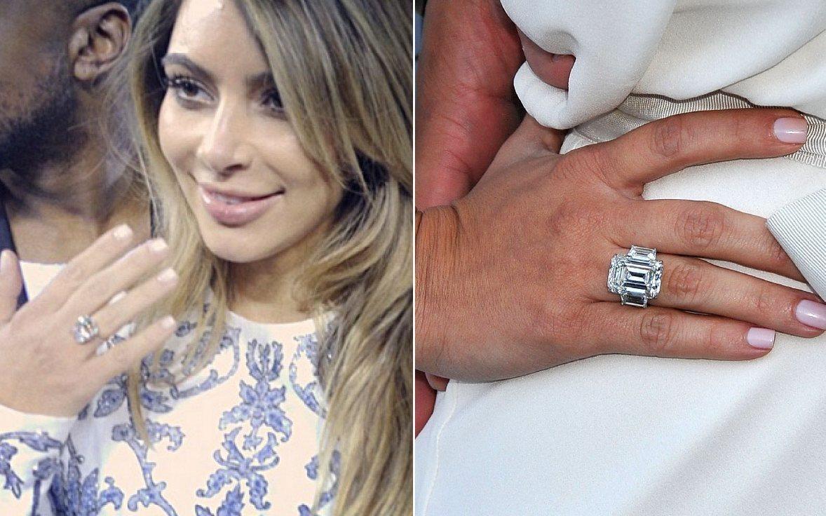 Kim Kardashian Engagement Rings Compared