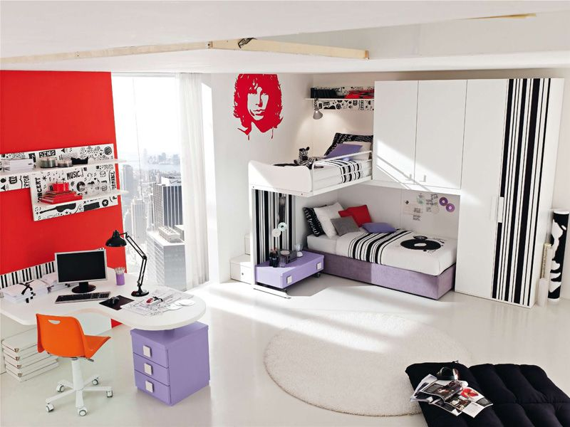 Music Bedrooms Themed for Teenagers with Colorful Furniture Musician  Silhouette Wallpaper  Cool Teen BedroomsBedroom. 16 best images about Music Bedroom Ideas     3 on Pinterest   Twin