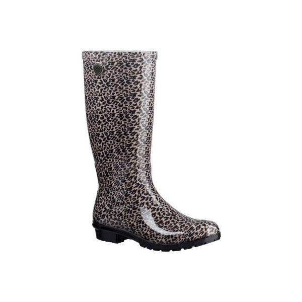 a8a6d60cb9b Women s UGG Shaye Leopard Rain Boot - Black Casual ( 80) ❤ liked on Polyvore