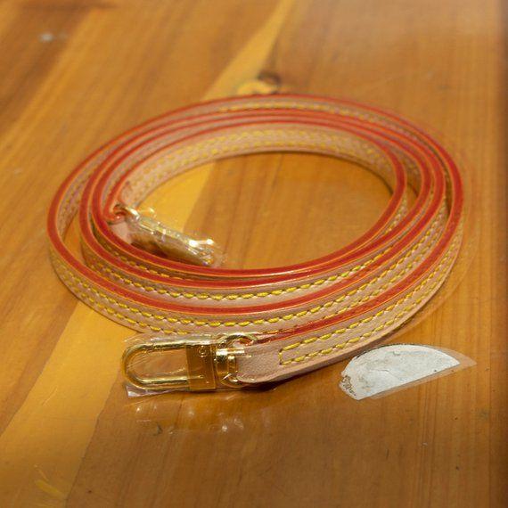 79632b1e19cf 10mm * 120cm Vachetta Leather Strap for Small Bags Pochette Mini NM ...