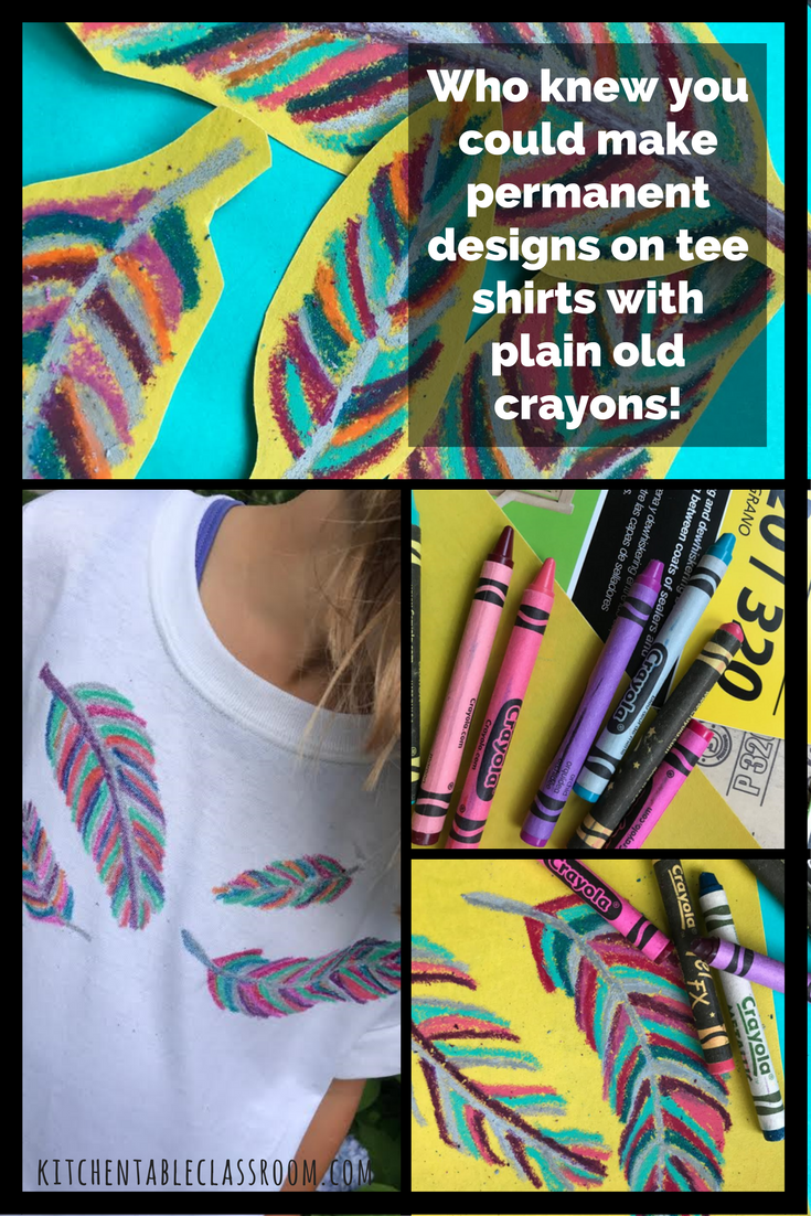 How To Make Crayon Prints On A T-Shirt