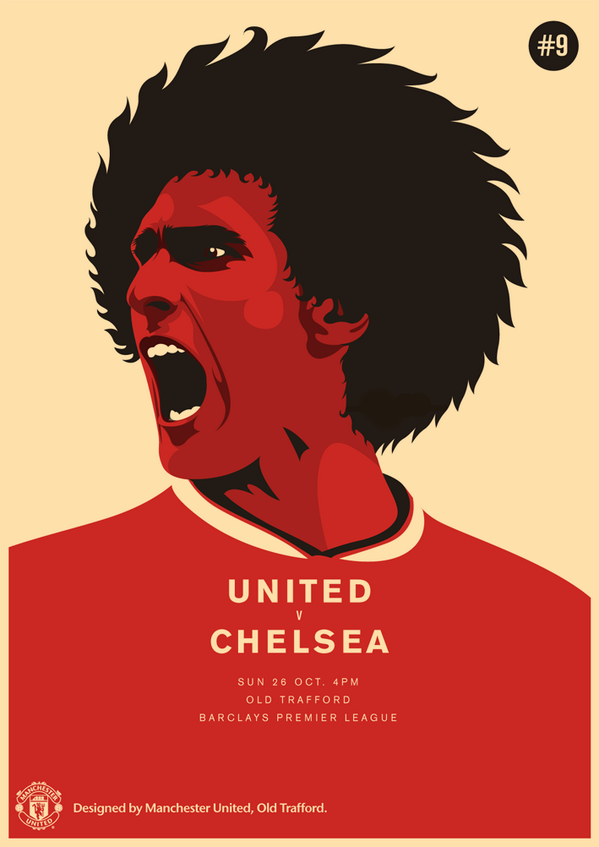 Official United Vs Chelsea Match Poster Manchester United Manchester United Poster Chelsea Match