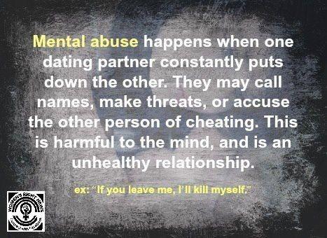 you call me names, threat.you abused me mentally!