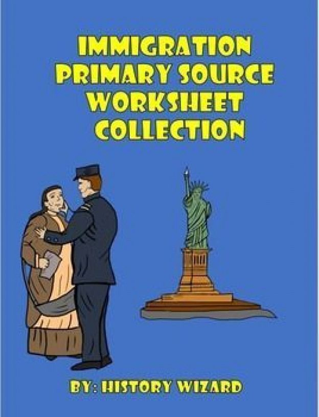 Photo of If you are teaching about immigration this collection of primary source workshee…