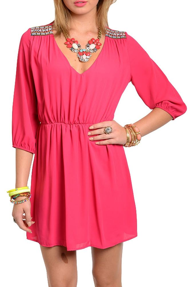 DHStyles Women's Fuchsia Trendy Flowy Chiffon Embellished Shoulder Date Dress - Medium #sexytops #clubclothes #sexydresses #fashionablesexydress #sexyshirts #sexyclothes #cocktaildresses #clubwear #cheapsexydresses #clubdresses #cheaptops #partytops #partydress #haltertops #cocktaildresses #partydresses #minidress #nightclubclothes #hotfashion #juniorsclothing #cocktaildress #glamclothing #sexytop #womensclothes #clubbingclothes #juniorsclothes #juniorclothes #trendyclothing #minidresses…