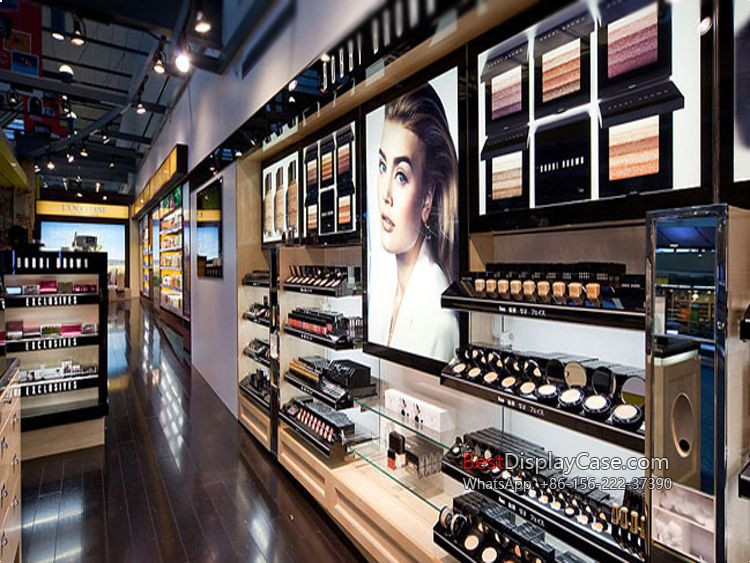 CS018 Free standing cosmetic shop furniture cosmetic