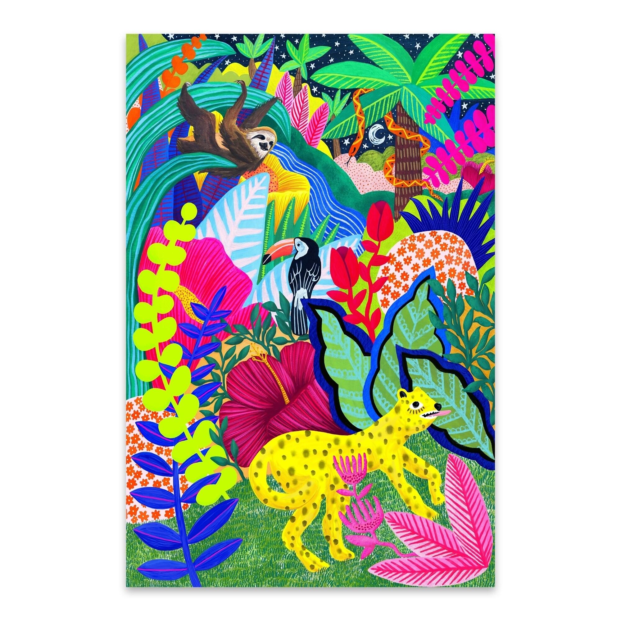 Noir Gallery Jungle Animals Floral Botanical Metal Wall
