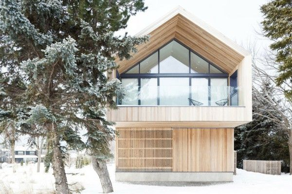 Great roof snow wood idea design