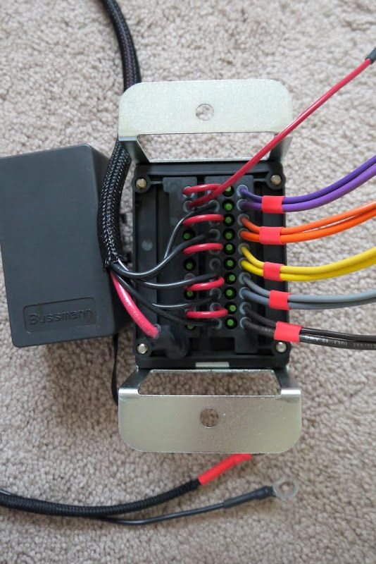 bussman fuse relay box from wagongear install in the. Black Bedroom Furniture Sets. Home Design Ideas