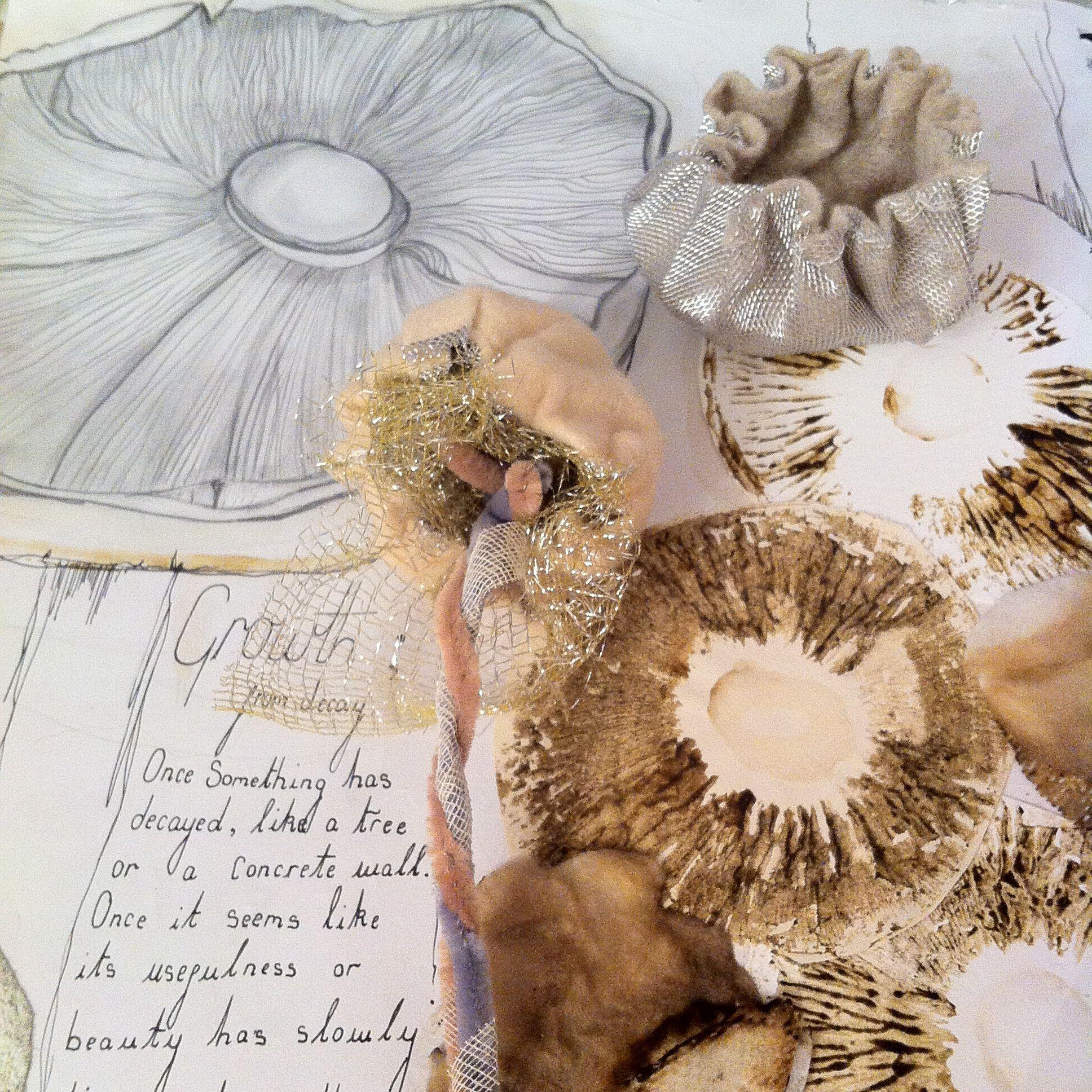 3d Textile Mushroom Stitched Soft Felt Bendable
