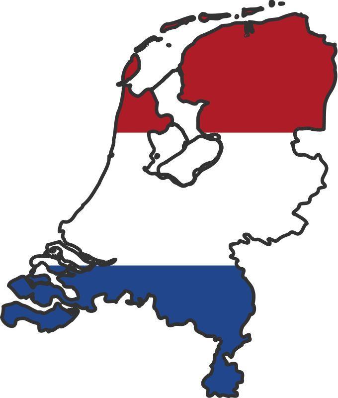 Niederlande Karte Umriss.Netherlands Flag Map Red White And Blue Bleu Blanc Et Rouge