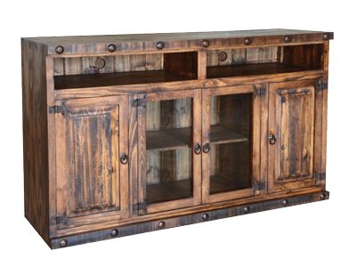 Rustic Tv Stand With Clavos. Can Be 50 Inch Or 60 Inch Wide And Comes In A  Variety Of Colors. See More At Www.santafefurniture.ca