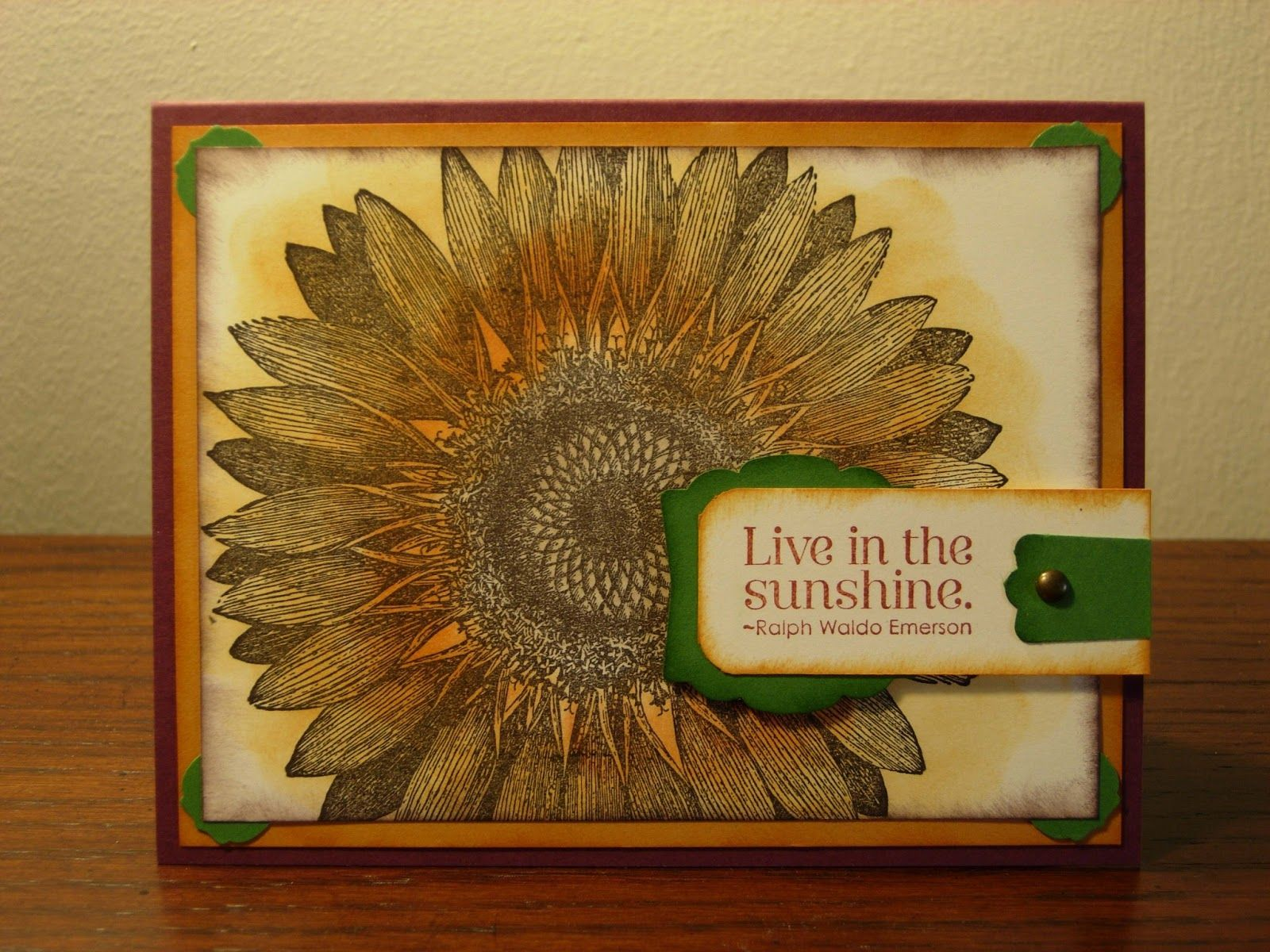 Sunflower Card by Creative Flare Cards