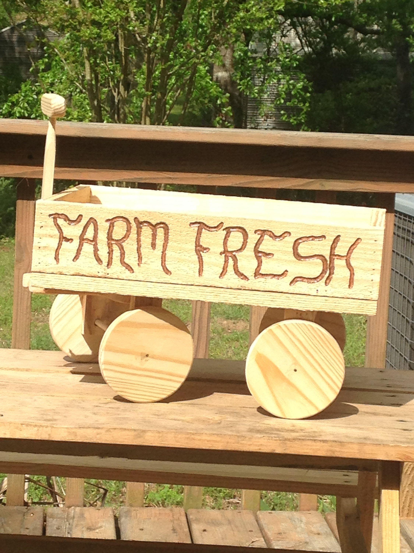 Rustic Farm Fresh Wooden Wagon Farm Fresh Wooden Wagon Rustic Wooden Wagon Center Piece Wooden Wagon Decorative Wooden Wagon Wooden Wagon Rustic Farms Outdoor Decor