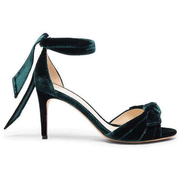 Alexandre Birman Velvet Midi New Clarita Heels ( 660) ❤ liked on Polyvore  featuring shoes e0fb1a338a0