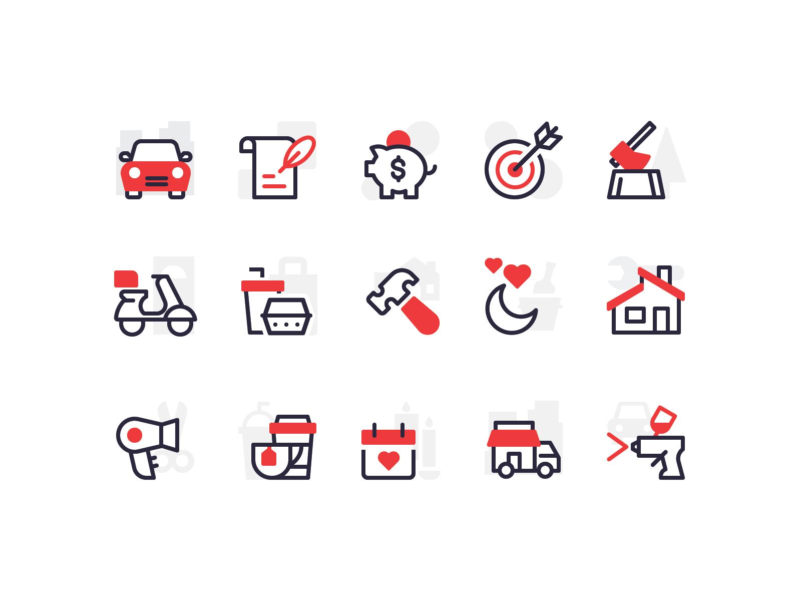 Category Icons Flat Design Icons Icon Design Inspiration Icon Design