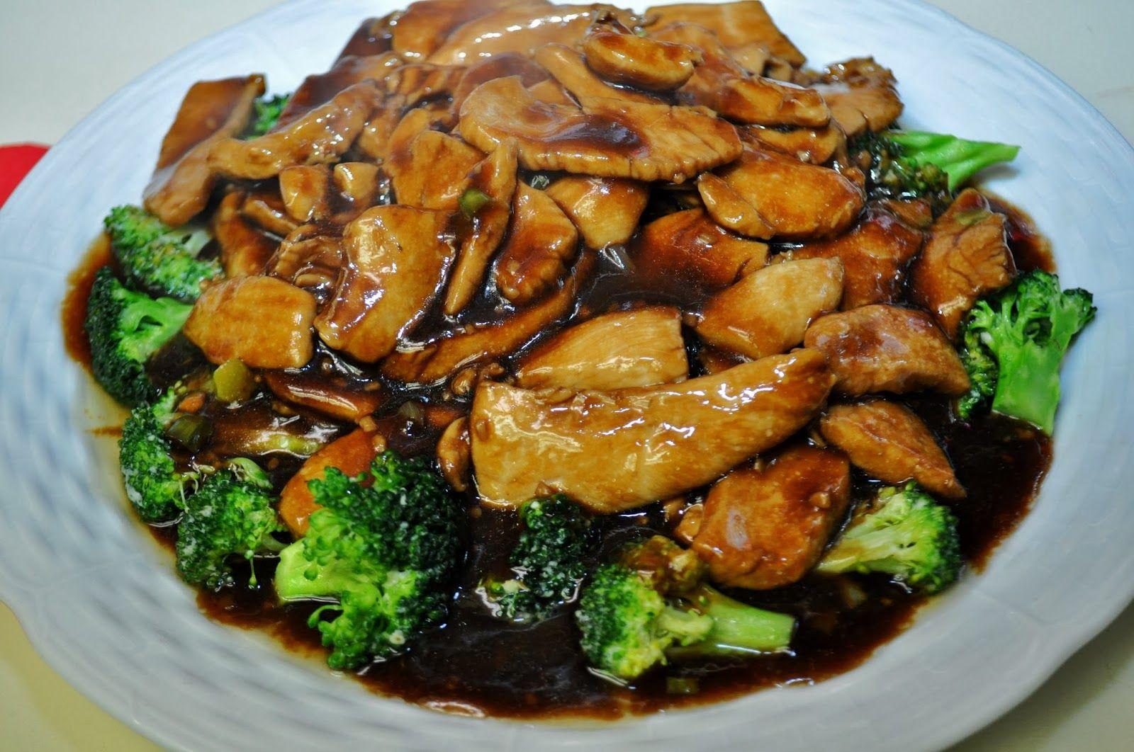 pf chang's ginger chicken with broccoli  the grateful
