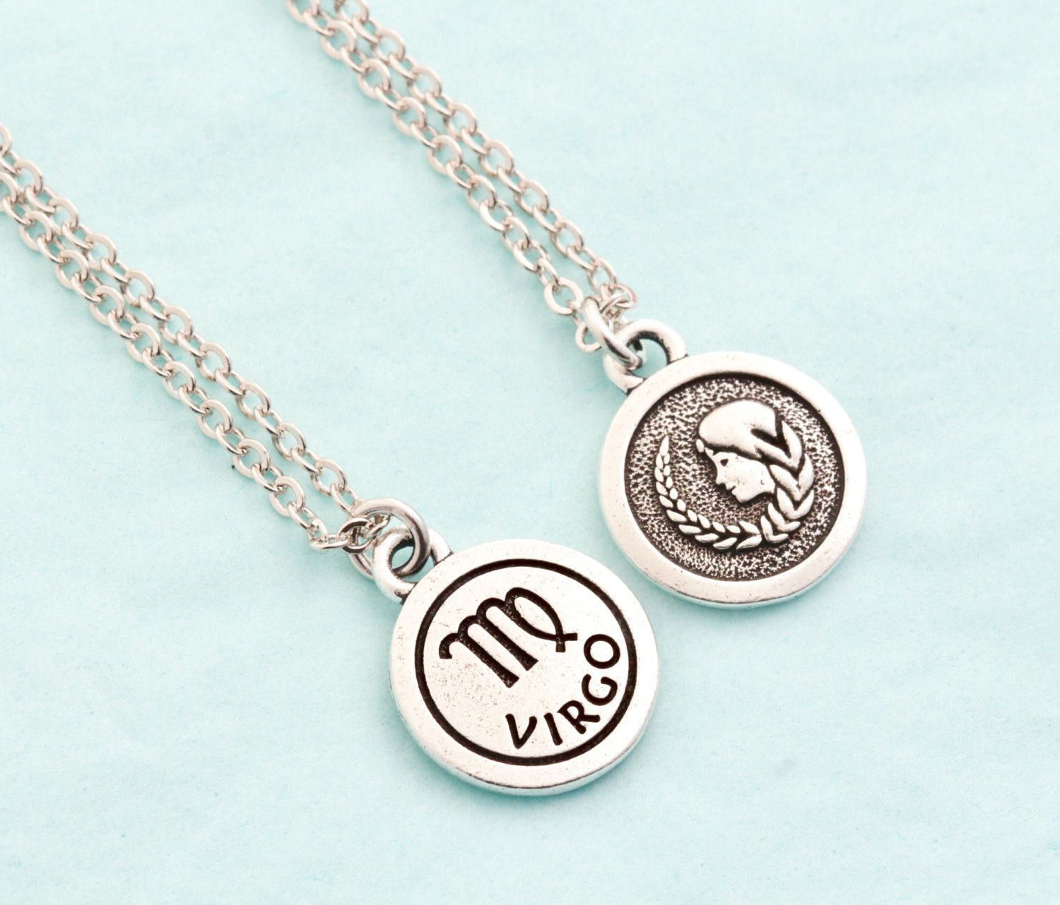 Silver virgo necklace products