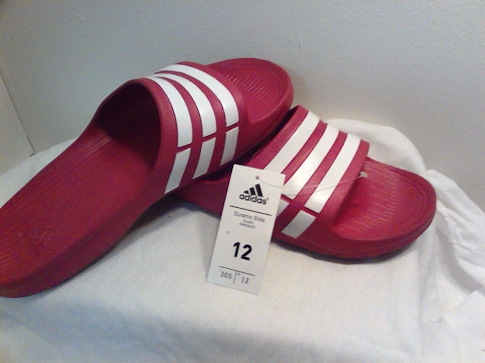 Adidas duramo slide marina bianco classico sport pantofole sandali sz 10