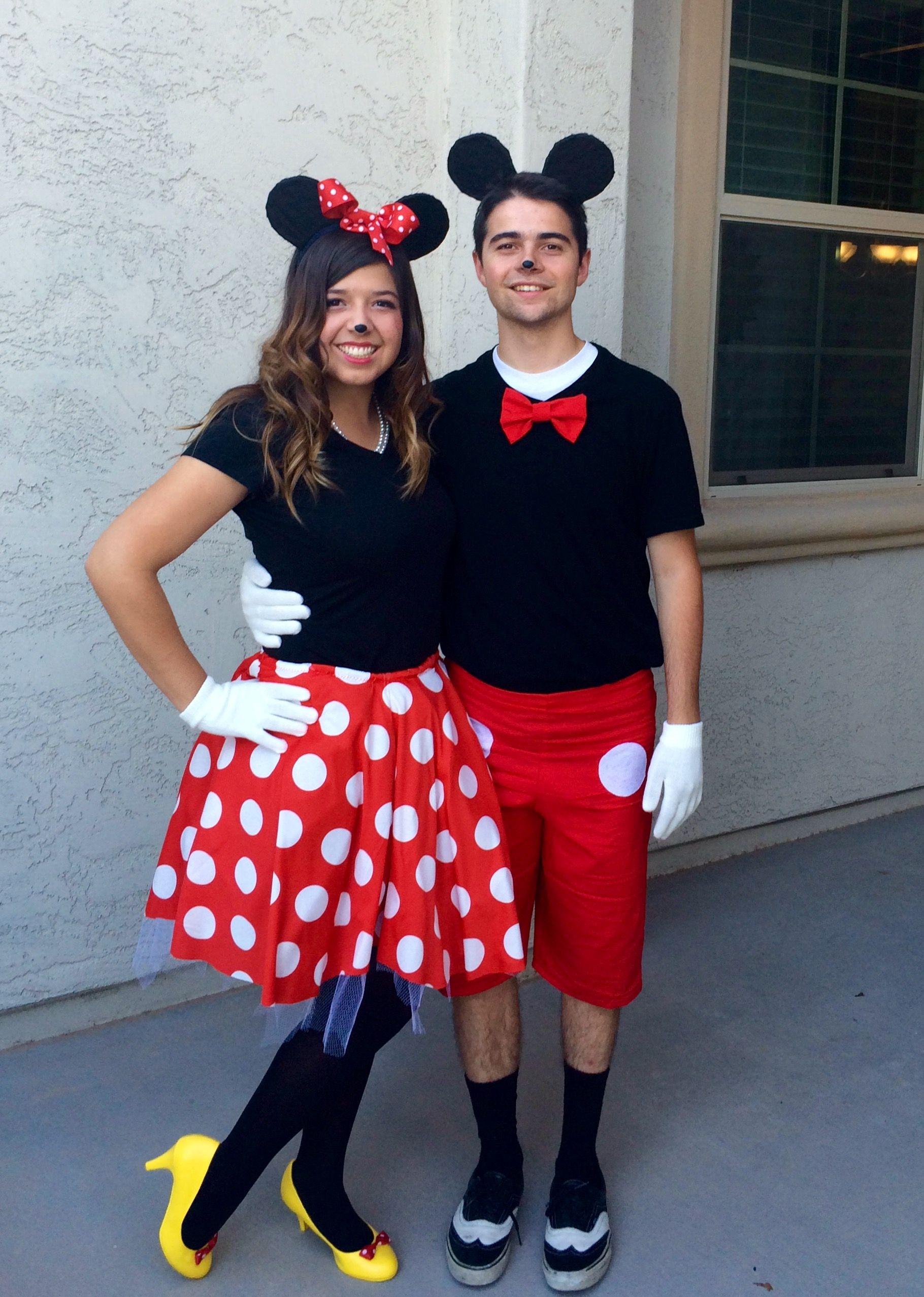 Mickey and Minnie Costume | Minnie costume, Minnie mouse halloween costume,  Mickey and minnie costumes