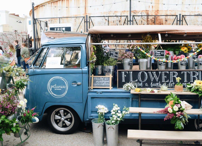 Flower Truck Waco Texas Magnolia Silos Two Pepers Flower Truck Waco Magnolia