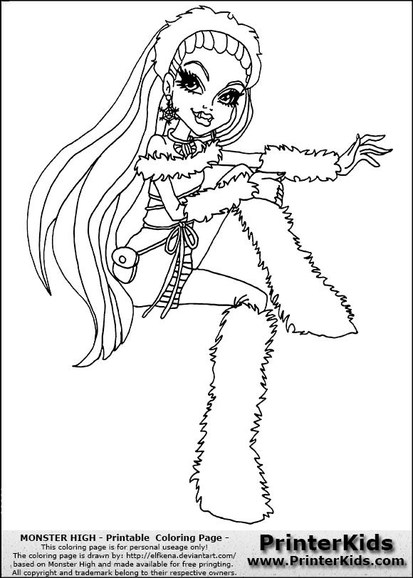 Myndaniðurstaða fyrir Abbey Bominable Monster High Coloring Page ...