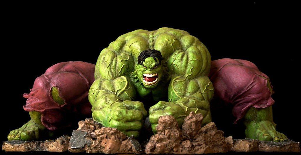 Huge Rare Marvel Incredible Hulk Smash Statue 1 4 Scale