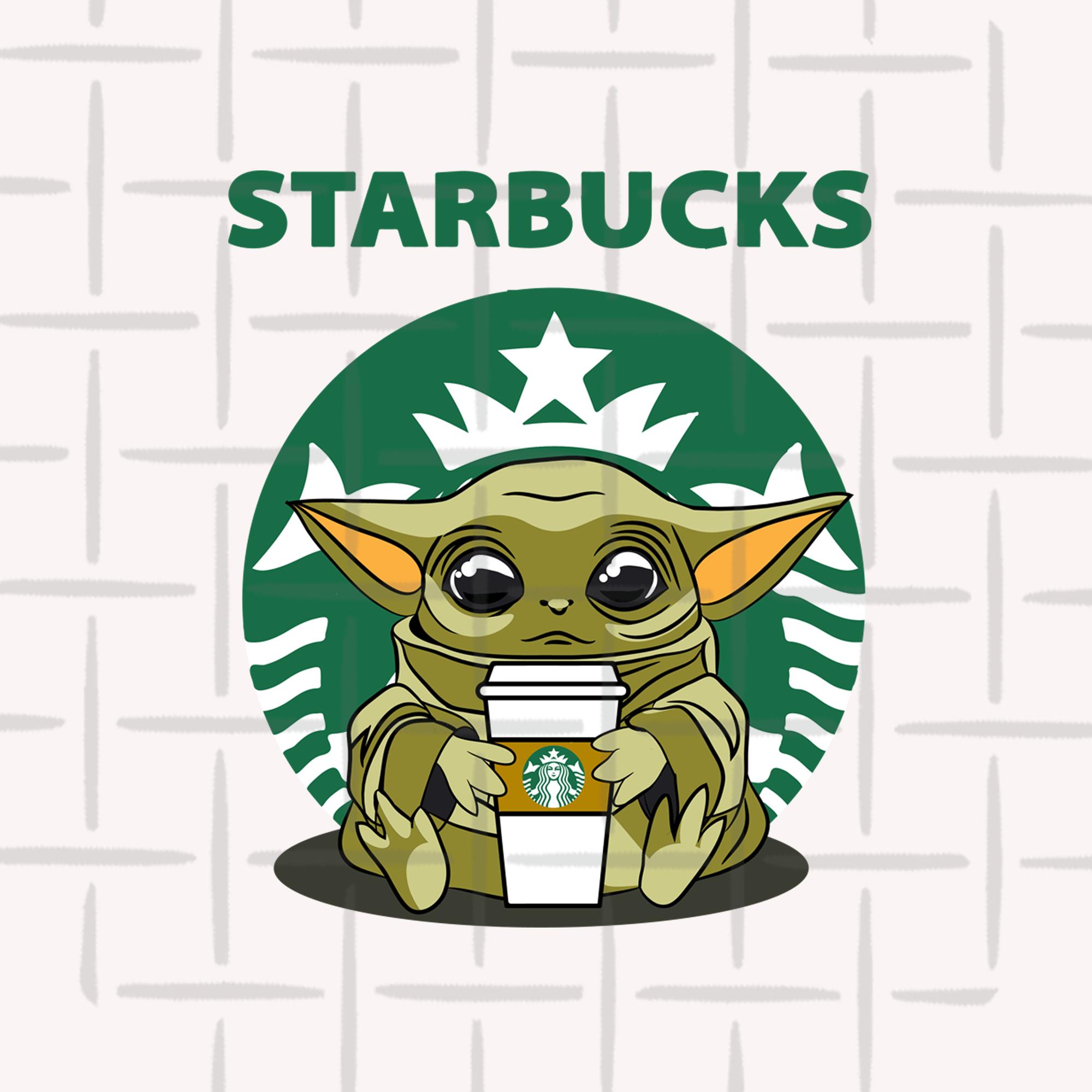 Baby Yoda Starbucks Svg Png Jpeg Starbucks Art Starbucks Wallpaper Cute Cartoon Wallpapers