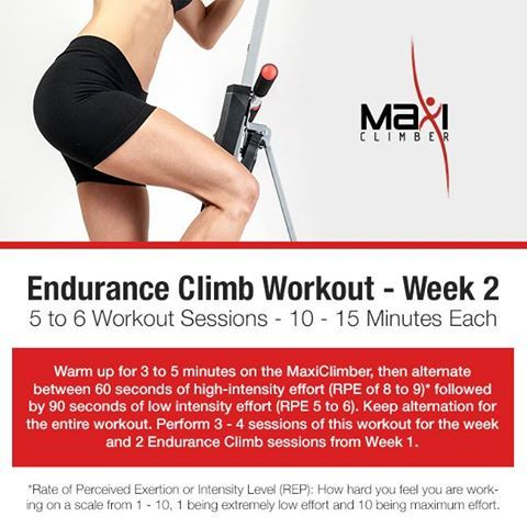 week 2 of the endurance climb are you ready for this
