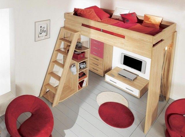 60 lits mezzanine pour gagner de la place - Elle Décoration   Lit ...