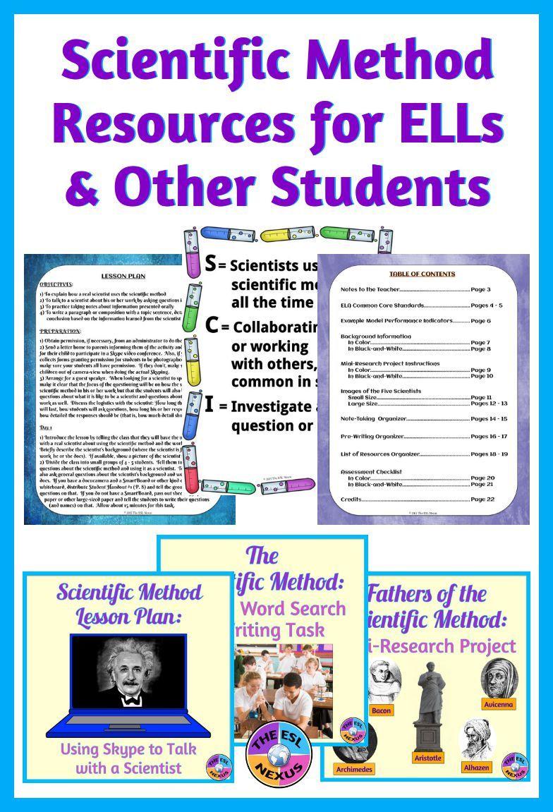 Scientific Method Bundle With Speaking Listening Reading Writing Activities Scientific Method Scientific Method Middle School Scientific Method Elementary