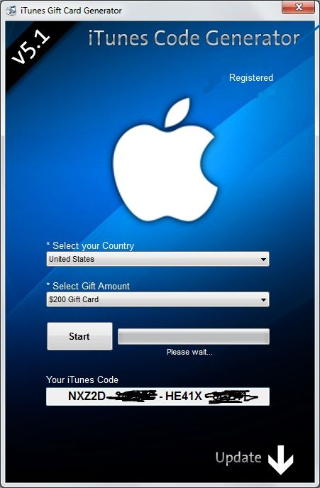 credit itunes keygen