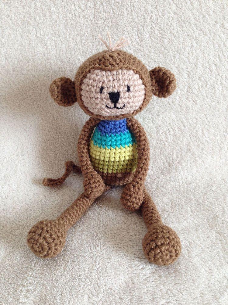 Gratis Häkelanleitung Sonela Affe Häkeln Pinterest Crochet