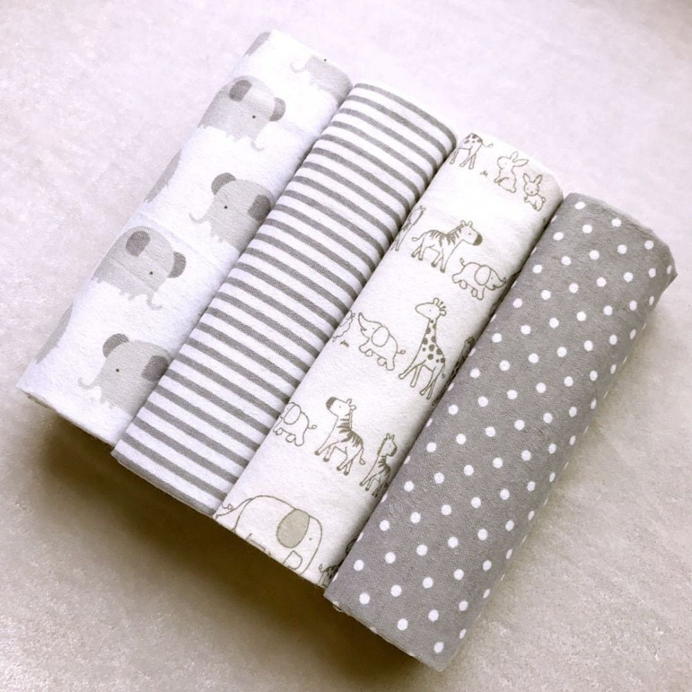 100 Cotton Flannel Baby S Blanket 4 Pcs Free Shipping And Discount Prices Newborn Baby Bedding Cotton Baby Blankets Baby Swaddle Blankets