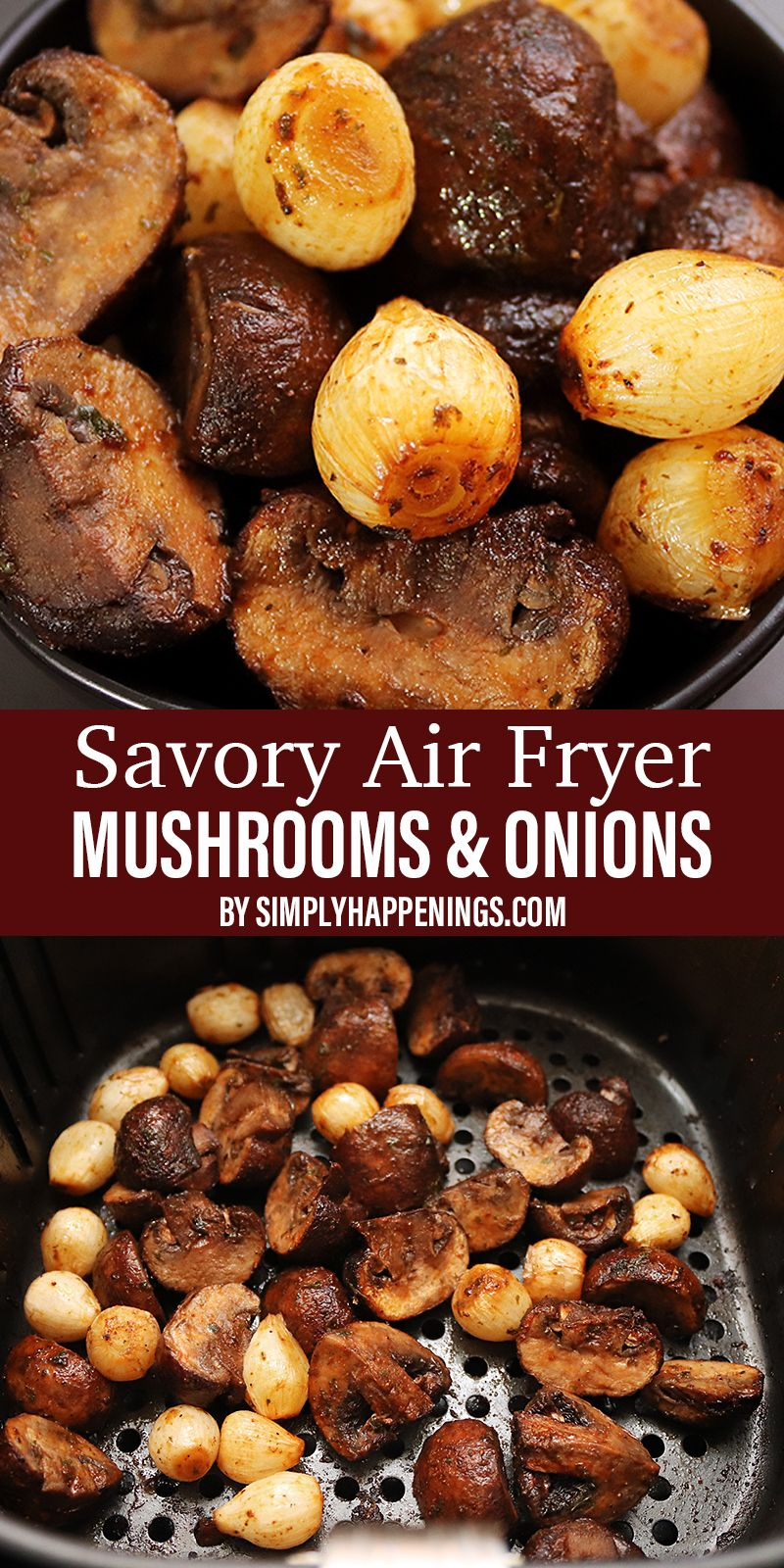 Mushrooms with Spring Onions Airfryer Recipe (With