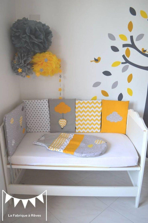 Belle Deco Chambre Bebe Jaune Gris Blanc  Déco chambre bébé
