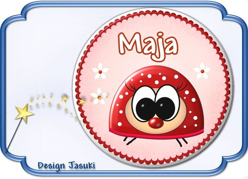 Button Marienkäfer mit Namen von Jasuki auf DaWanda.com