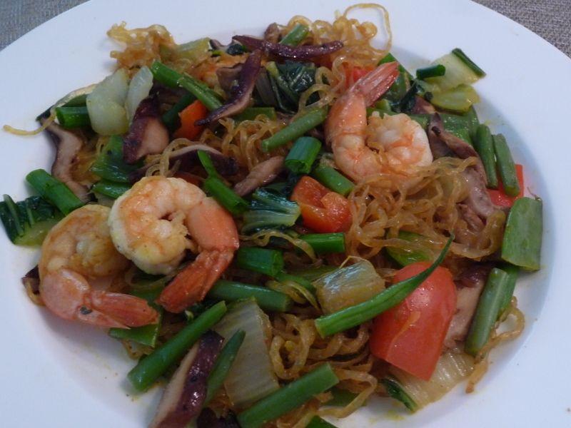 Singapore-style kelp noodles