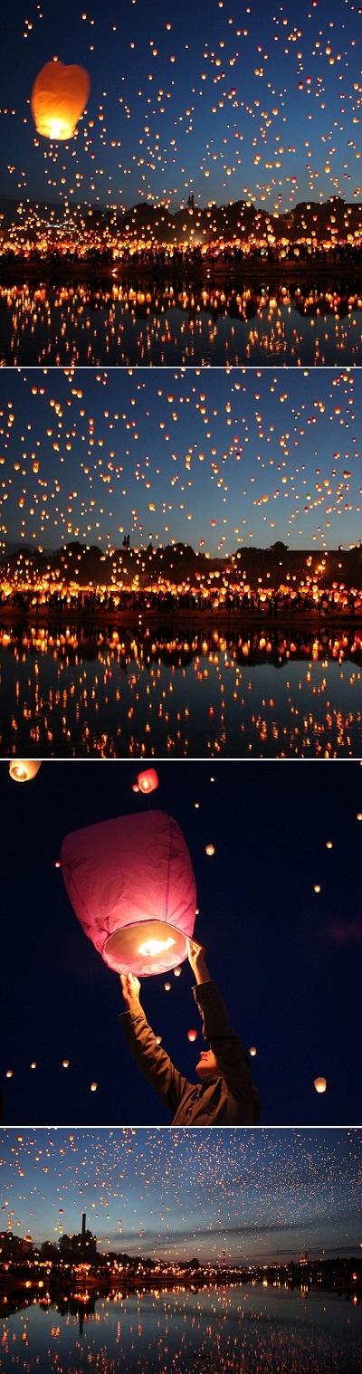 floating lantern festival in Chiang Mai. must go.