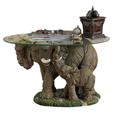 You Should See This Elephantu0027s Majesty Coffee Table In Gray On Daily Sales!