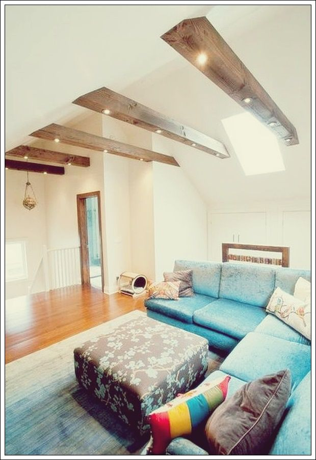 Photo of Living room with beams that will inspire