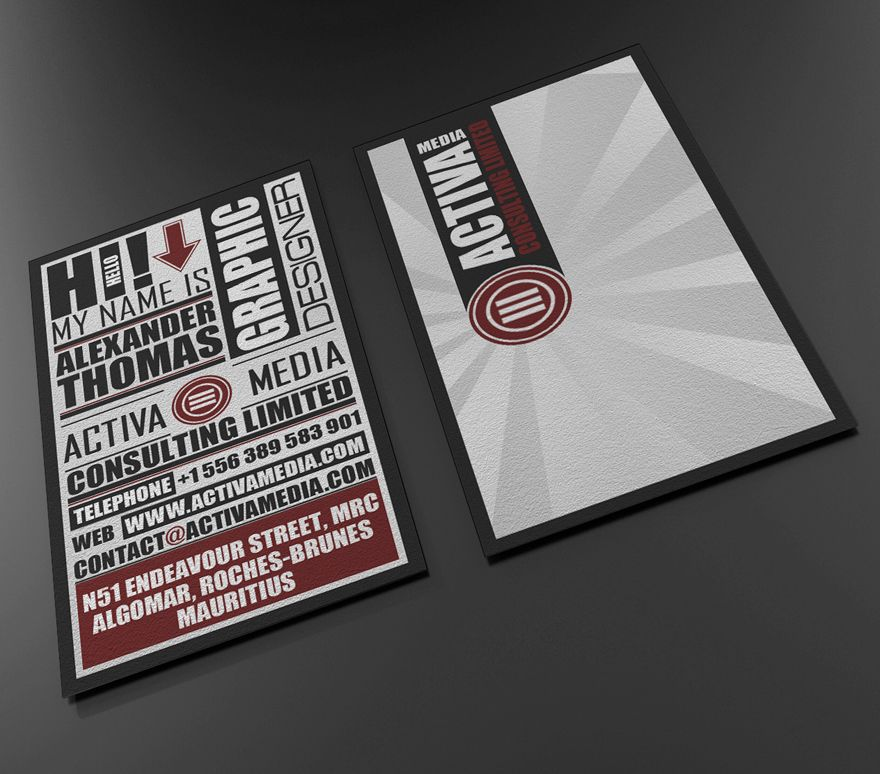 Typo Business Card - Business Cards - Creattica | Business card ...