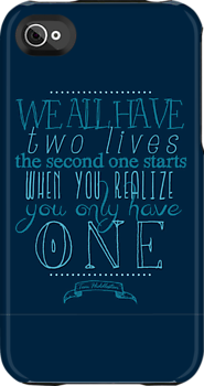 """""""We all have two lives..."""" Hiddleston quote"""