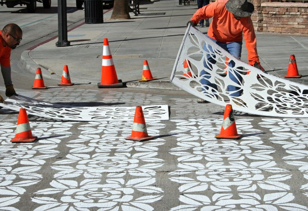 Crosswalk stencils