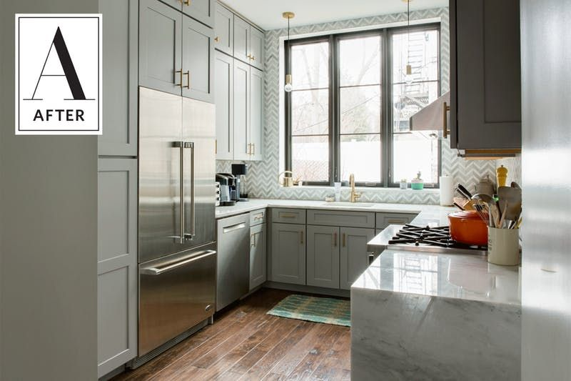 Before And After A Dark Dated Kitchen Gets An Unbelievably Beautiful Update Cheap Kitchen Cabinets Discount Kitchen Cabinets Diy Kitchen Cabinets